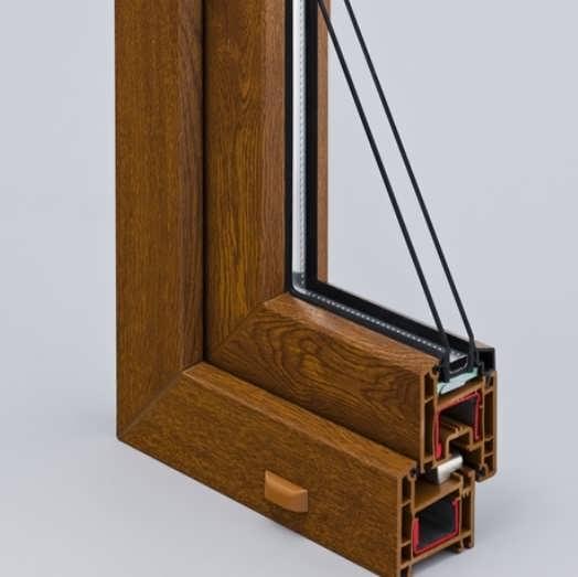 Профиль ламинированного окна