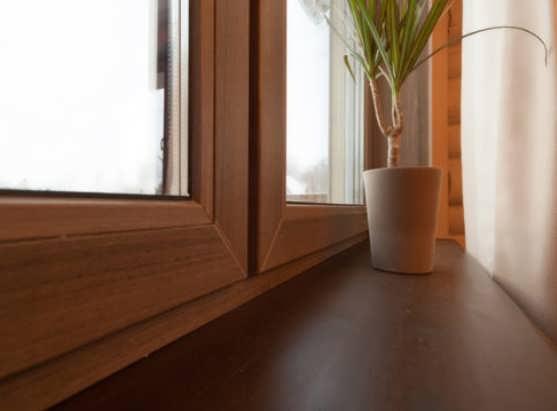 Ламинированное окно